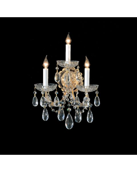 Maria Theresa 3-Light Hand Cut Crystal Sconce