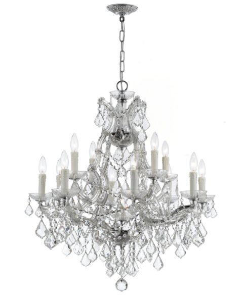 Maria Theresa 13-Light Hand Cut Crystal Chandelier