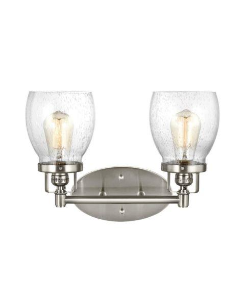 Belton 2-Light Clear Seeded Bathroom Vanity Light