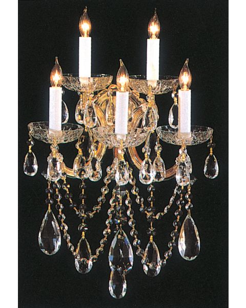 Maria Theresa 5-Light Hand Cut Crystal Sconce