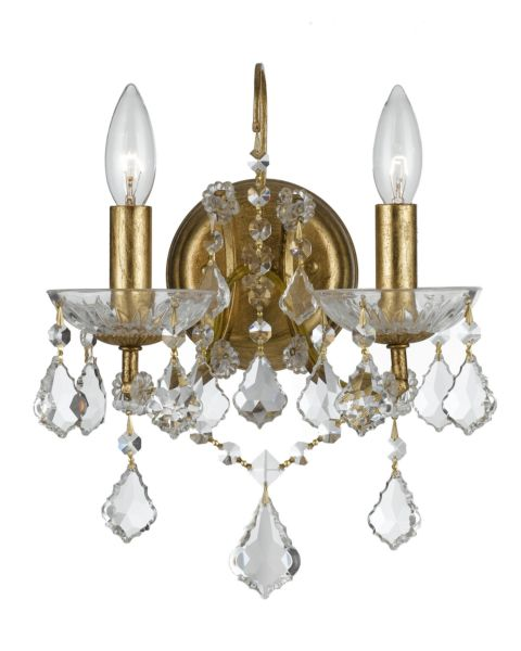 Filmore 2-Light Hand Cut Crystal Sconce