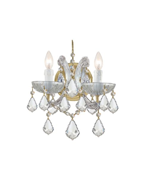 Maria Theresa 2-Light Hand Cut Crystal Sconce