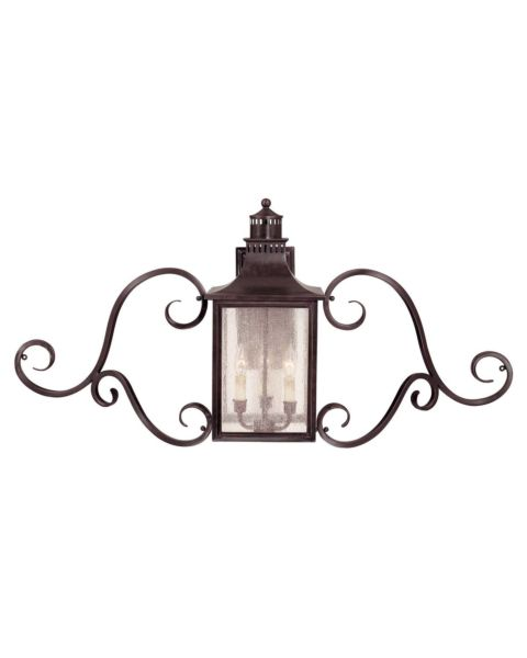 Monte Grande 3-Light Outdoor Wall Lantern with Scroll