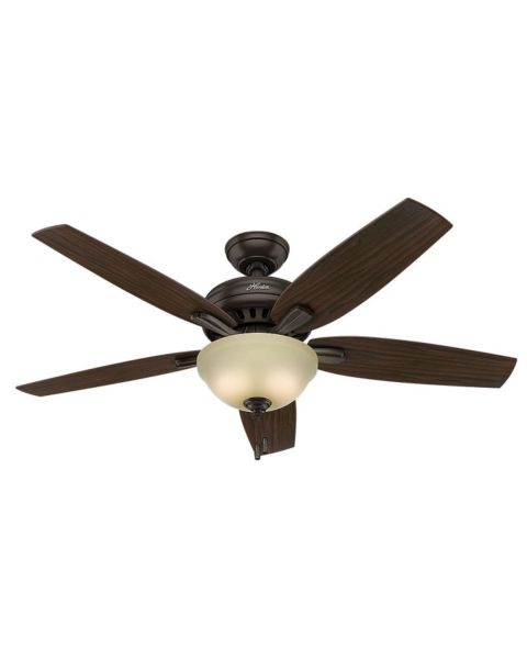 Newsome 52-inch 2-Light Indoor Frosted Amber Ceiling Fan
