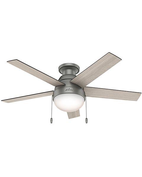 Anslee 46-inch 2-Light Low Profile Ceiling Fan