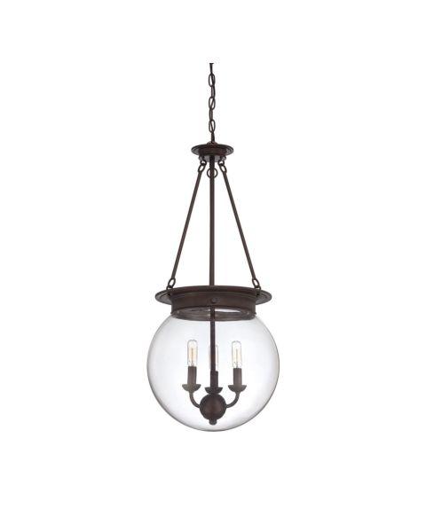 Glass Orb 3-Light Pendant Light