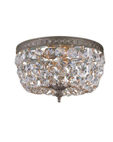 Richmond 2-Light Hand Cut Clear Crystal Ceiling Light