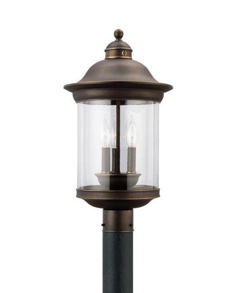 Hermitage 3-Light Outdoor Post Lantern