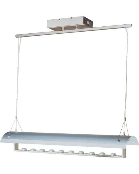 Linea 10-Light Clear/White Linear Pendant Light