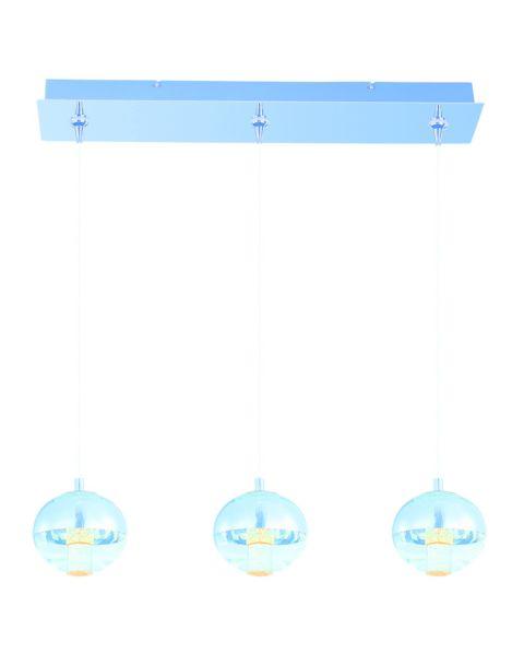 Zing 3-Light Mirror Chrome Linear Pendant Light