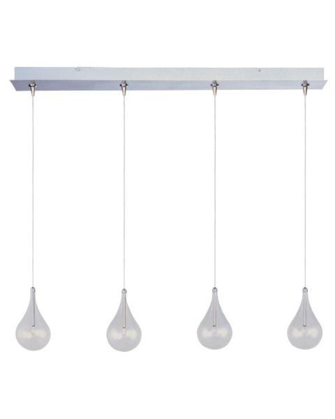 Larmes 4-Light Clear Glass Linear Pendant Light
