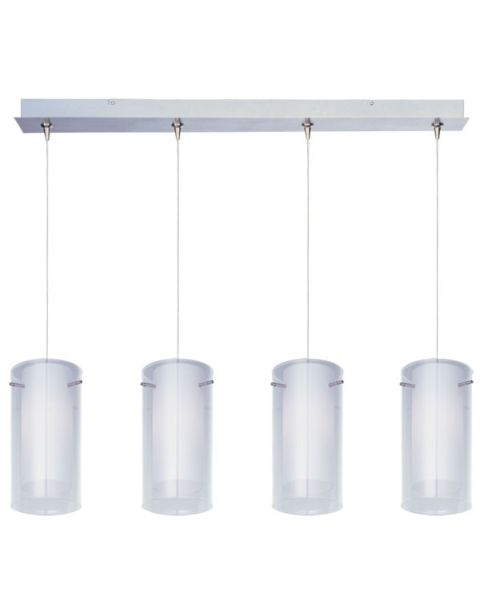 Glace 4-Light Clear/White Linear Pendant Light