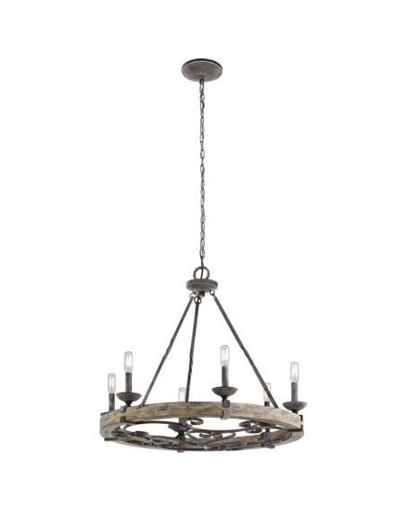 Taulbee 6-Light Chandelier Round Pendant Light