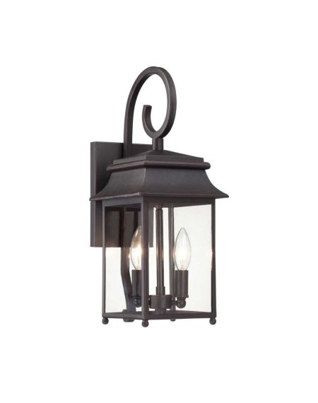 Durham 2-Light Outdoor Wall Lantern with Scroll