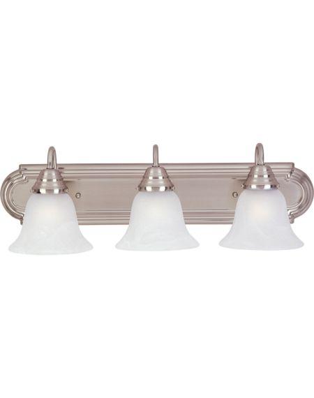 Essentials 3-Light Marble Bathroom Vanity Light