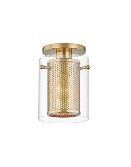 Elanor Ceiling Light in Aged Brass